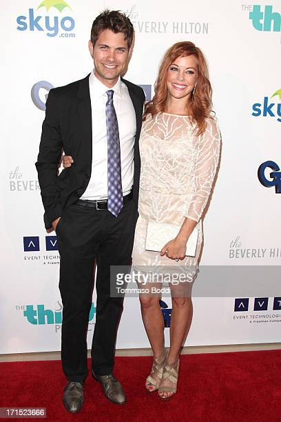 Actors Drew Seeley and Amy Paffrath attend the 4th annual Thirst Gala held at The Beverly Hilton Hotel on June 25 2013 in Beverly Hills California