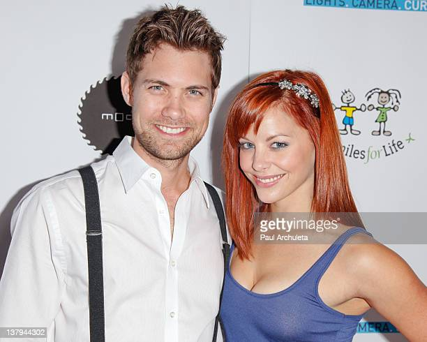 Actors Drew Seeley and Amy Paffrath attend the 'Lights Camera Cure 2012 Hollywood DanceAThon' at Avalon on January 29 2012 in Hollywood California