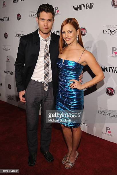 Actors Drew Seeley and Amy Paffrath attend Vanity Fair L'Oréal Paris Fiathosted DJ Night in support of The Pablove Foundation on Saturday on February...