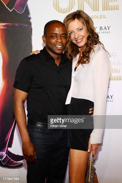 Actors Dule Hill and Allison Janney arrive at the world premiere of 'Michael Jackson ONE by Cirque du Soleil' at THEhotel at Mandalay Bay on June 29...