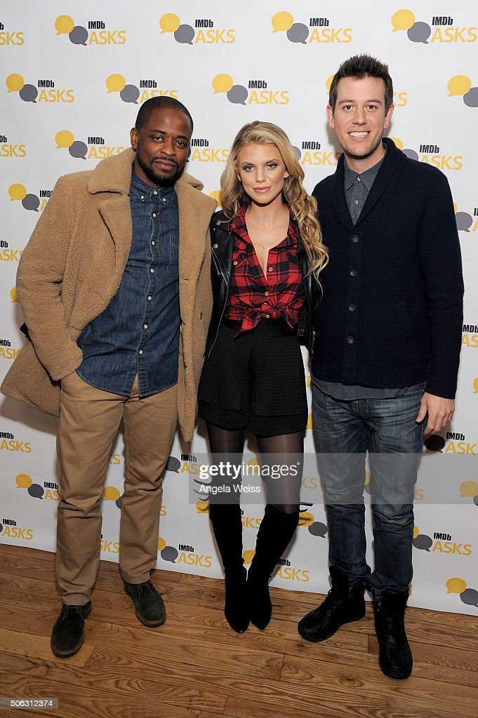 Actors Dule Hill and AnnaLynne McCord and critic Ben Lyons in The IMDb Studio In Park City, Utah: Day One - Park City on January 22, 2016 in Park City, Utah.