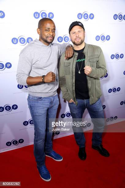 Actors Dule Hill and James Roday attend Universal Cable Productions Annual ComicCon Celebration at Omnia Nightclub on July 21 2017 in San Diego...