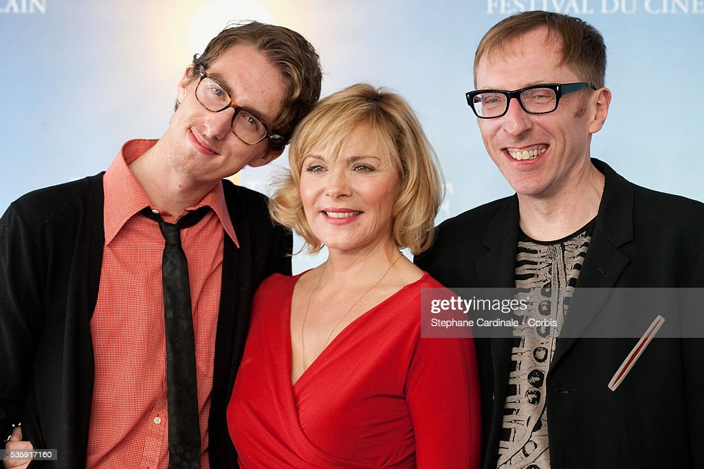 Actors Dustin Ingram, Kim Cattrall and director Keith Bearden pose during the photocall for movie 'Meet Monica Velour' at the 36th American Film Festival in Deauville.