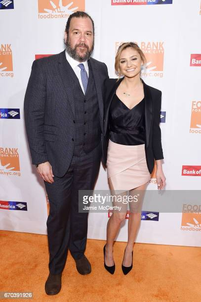Actors Dwayne Hill and Christine Evangelista attend the Food Bank for New York City CanDo Awards Dinner 2017 on April 19 2017 in New York City