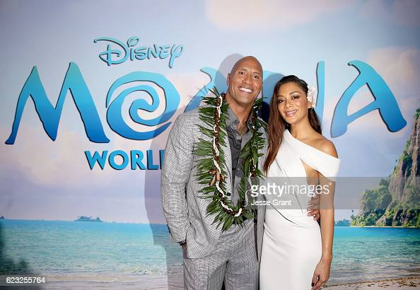 Actors Dwayne Johnson and Nicole Scherzinger attend The World Premiere of Disney's 'MOANA' at the El Capitan Theatre on Monday November 14 2016 in...