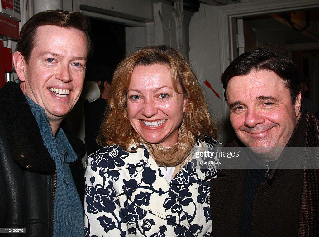 """Jack Klugman visits Nathan Lane backstage at """"November"""" on Broadway"""