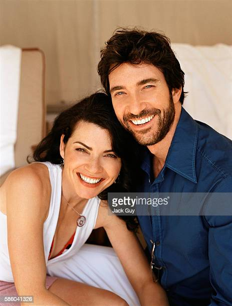 Actors Dylan McDermott and Julianna Margulies are photographed for Hamptons Magazine in 2004 in Los Angeles California