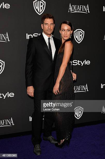 Actors Dylan McDermott and Maggie Q attend the 16th Annual Warner Bros and InStyle PostGolden Globe Party at The Beverly Hilton Hotel on January 11...