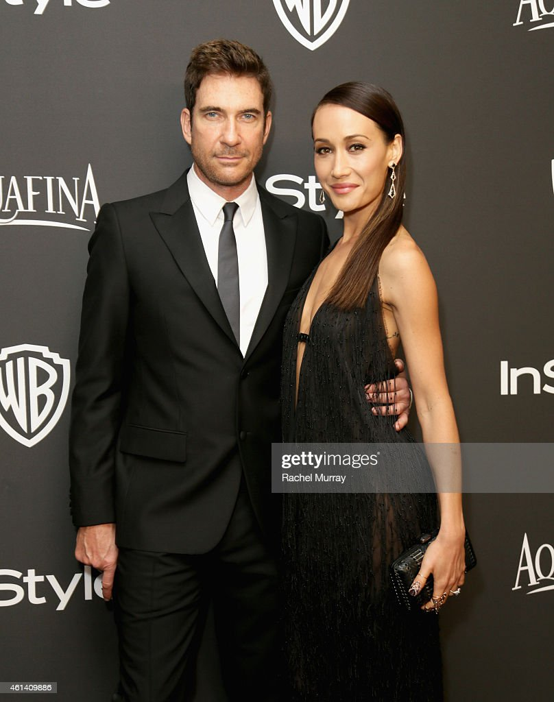 Actors <a gi-track='captionPersonalityLinkClicked' href=/galleries/search?phrase=Dylan+McDermott&family=editorial&specificpeople=211496 ng-click='$event.stopPropagation()'>Dylan McDermott</a> (L) and <a gi-track='captionPersonalityLinkClicked' href=/galleries/search?phrase=Maggie+Q&family=editorial&specificpeople=555127 ng-click='$event.stopPropagation()'>Maggie Q</a> attend the 2015 InStyle And Warner Bros. 72nd Annual Golden Globe Awards Post-Party at The Beverly Hilton Hotel on January 11, 2015 in Beverly Hills, California.