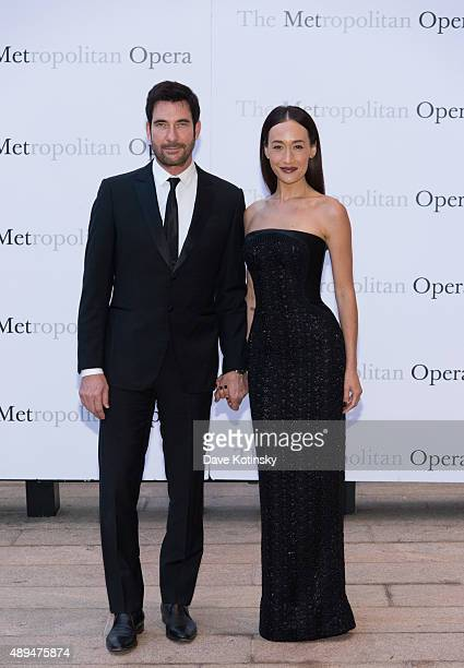 Actors Dylan McDermott and Maggie Q attend the Metropolitan Opera 20152016 season opening night of 'Otello' at The Metropolitan Opera House on...