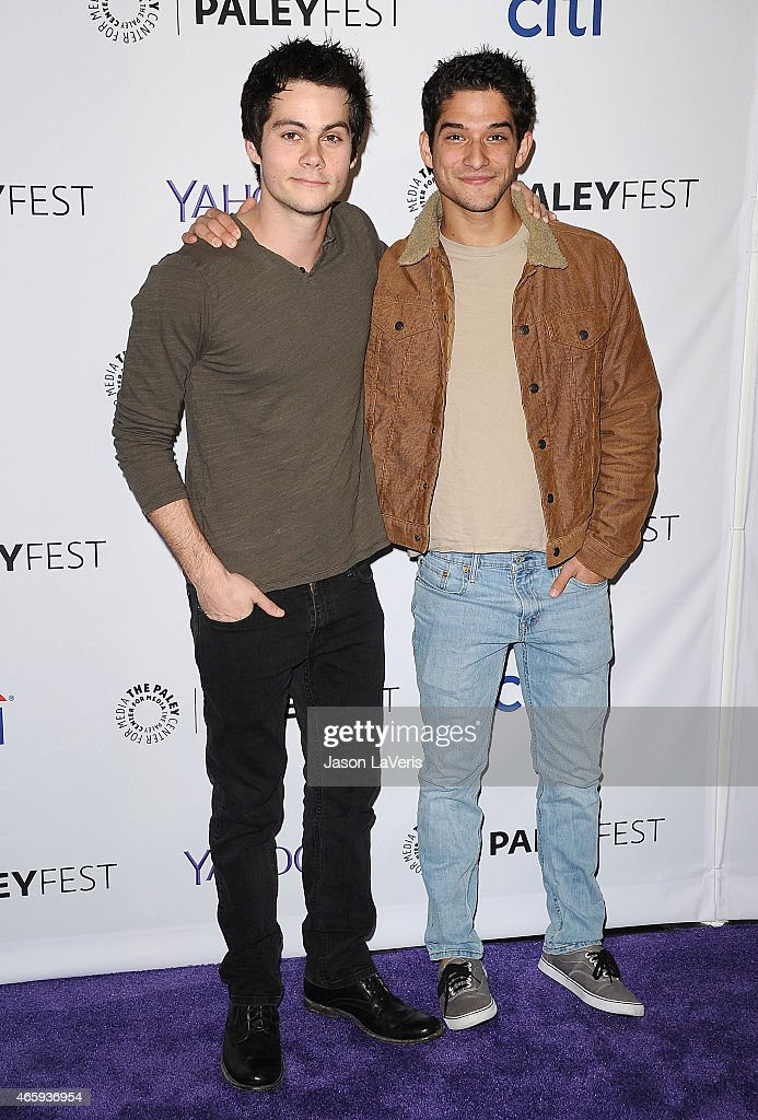 Actors Dylan O'Brien and Tyler Posey attend the 'Teen Wolf' event at the 32nd annual PaleyFest at Dolby Theatre on March 11 2015 in Hollywood...