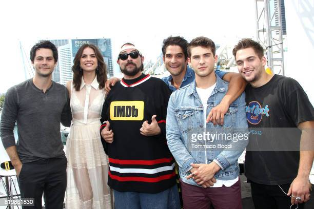 Actors Dylan O'Brien Shelly Hennig host Kevin Smith actors Tyler Posey Cody Christian and Dylan Sprayberry at the #IMDboat At San Diego ComicCon 2017...