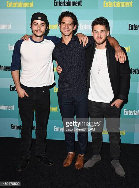 Actors Dylan O'Brien Tyler Posey and Cody Christian attend Entertainment Weekly's ComicCon 2015 Party sponsored by HBO Honda Bud Light Lime and Bud...