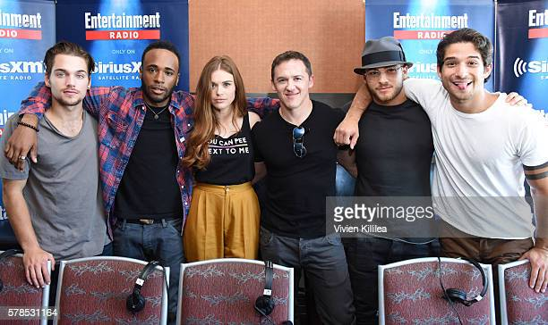 Actors Dylan Sprayberry and Khylin Rhambo actress Holland Roden executive producer Jeff Davis and actors Cody Christian and Tyler Posey attend...