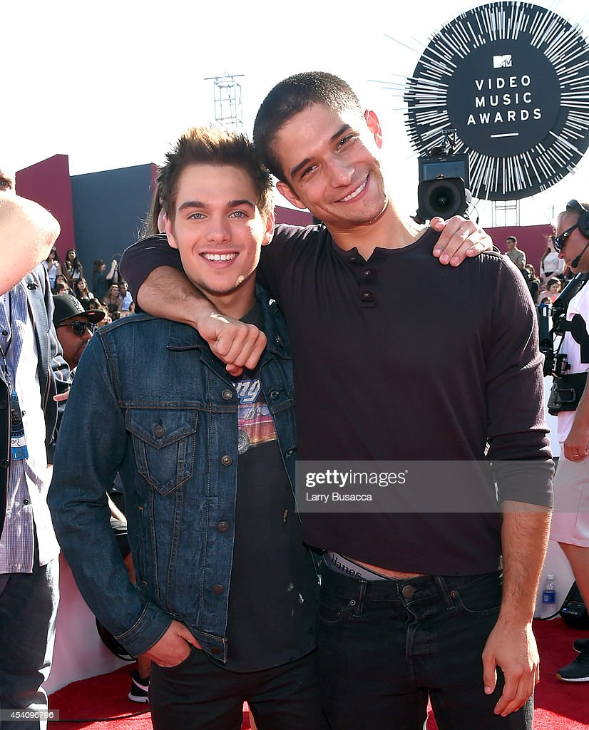 Actors Dylan Sprayberry and Tyler Posey attend the 2014 MTV Video Music Awards at The Forum on August 24 2014 in Inglewood California