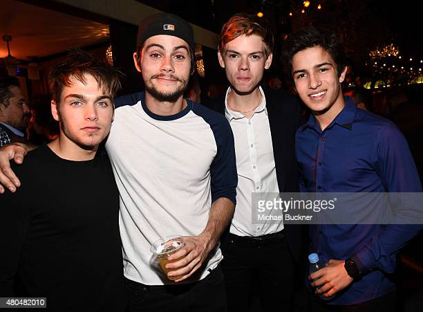 Actors Dylan Sprayberry Dylan O'Brien Thomas BrodieSangster and Aramis Knight attend Entertainment Weekly's ComicCon 2015 Party sponsored by HBO...