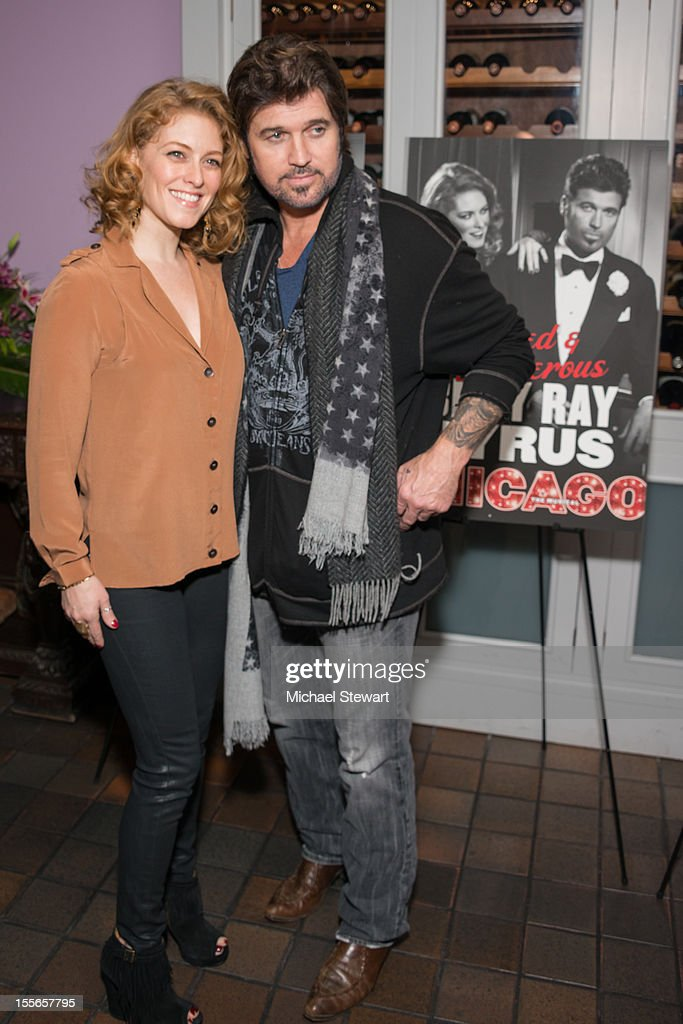 Actors Dylis Croman (L) and <a gi-track='captionPersonalityLinkClicked' href=/galleries/search?phrase=Billy+Ray+Cyrus&family=editorial&specificpeople=213601 ng-click='$event.stopPropagation()'>Billy Ray Cyrus</a> attend the post show celebration for <a gi-track='captionPersonalityLinkClicked' href=/galleries/search?phrase=Billy+Ray+Cyrus&family=editorial&specificpeople=213601 ng-click='$event.stopPropagation()'>Billy Ray Cyrus</a>' Broadway debut in 'Chicago' at Victor's Cafe on November 5, 2012 in New York City.