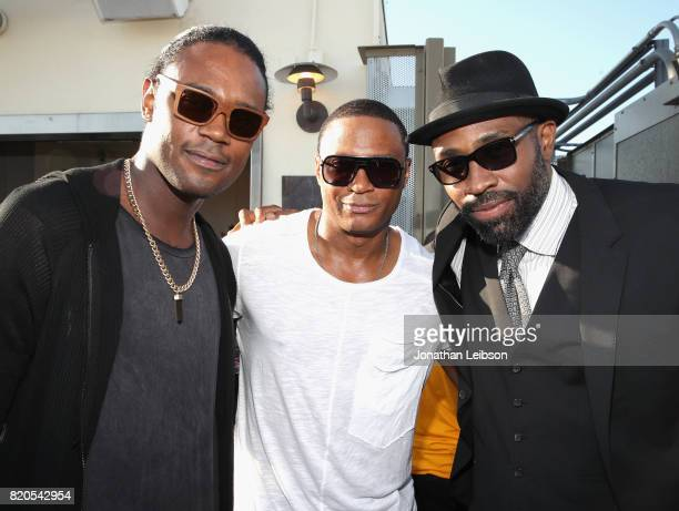 Actors Echo Kellum David Ramsey and Cress Williams at BuzzFeed The CW Present SRSLY The Best Damn Superhero Party on July 21 2017 in San Diego...
