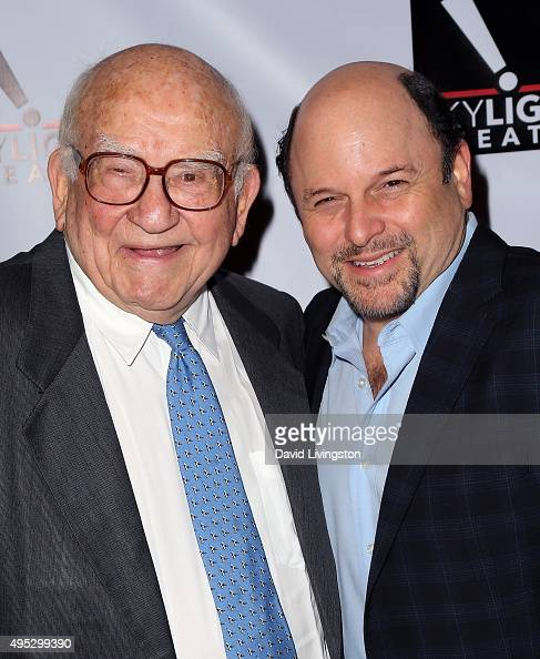 Actors Ed Asner and Jason Alexander attend A Salute to Ed Asner at the Skylight Theatre Complex on November 1 2015 in Los Angeles California