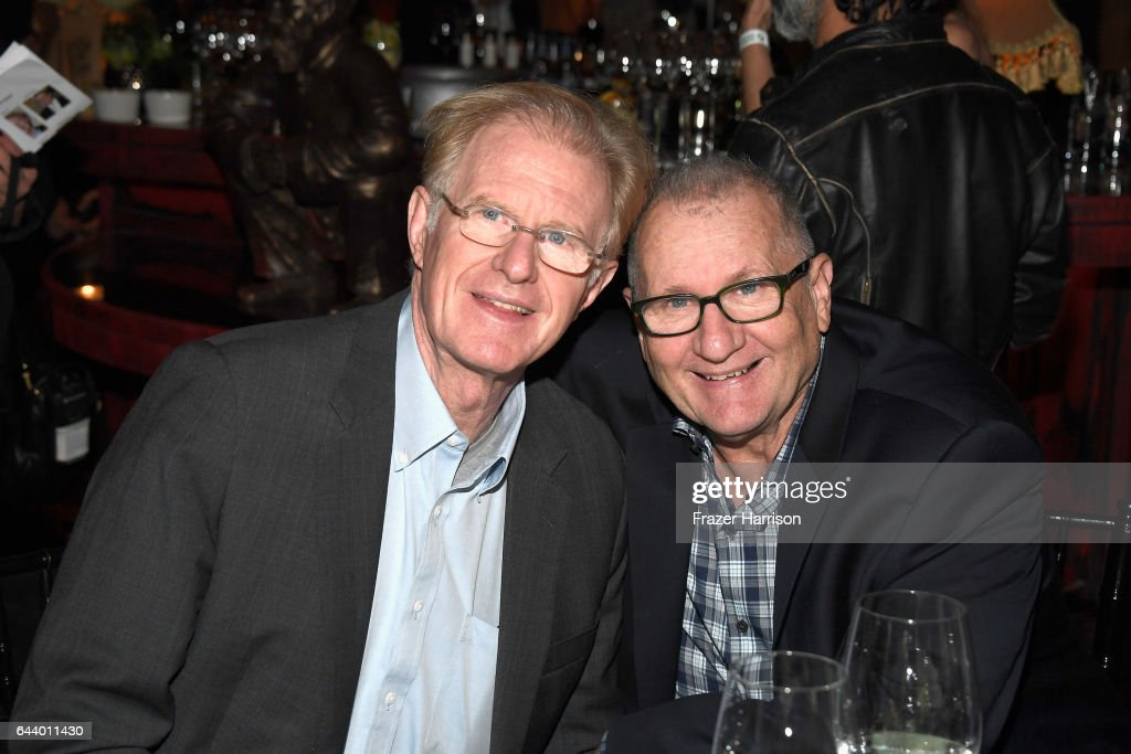 Actors Ed Begley Jr. and Ed O'Neill attend the 14th Annual Global Green Pre Oscar Party at TAO Hollywood on February 22, 2017 in Los Angeles, California.