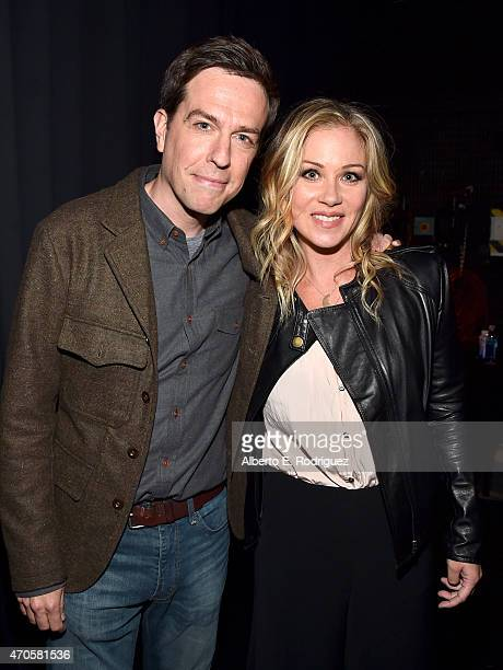 """Actors Ed Helms and Christina Applegate attend Warner Bros Pictures Invites You to """"The Big Picture"""" an Exclusive Presentation Highlighting the..."""