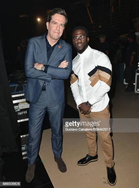 Actors Ed Helms and Kevin Hart attend the 2017 Billboard Music Awards at TMobile Arena on May 21 2017 in Las Vegas Nevada