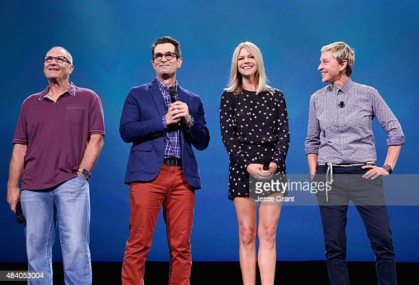 Actors Ed O'Neill Ty Burrell Kaitlin Olson and Ellen DeGeneres of FINDING DORY took part today in 'Pixar and Walt Disney Animation Studios The...