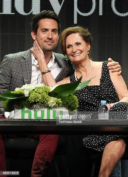 Actors Ed Weeks and Beth Grant speak onstage during 'The Mindy Project' panel at the Hulu 2015 Summer TCA Presentation at The Beverly Hilton Hotel on...
