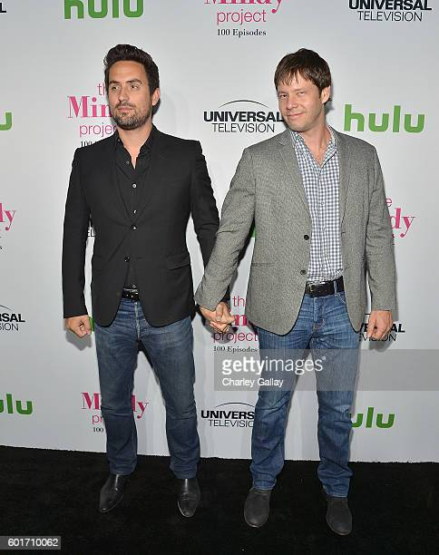 Actors Ed Weeks and Ike Barinholtz attend The Mindy Project 100th Episode Party at EP LP on September 9 2016 in West Hollywood California