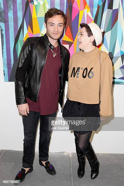Actors Ed Westwick and Rose McGowan attend the 8th Annual Pieces of Heaven Art Auction presented by The Art of Elysium and Samsung Galaxy on February...