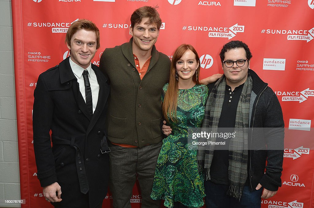 Actors Eddie Hassell, Ashton Kutcher, Ahna O'Reilly and Josh Gad attend the 'jOBS' Premiere during the 2013 Sundance Film Festival at Eccles Center Theatre on January 25, 2013 in Park City, Utah.