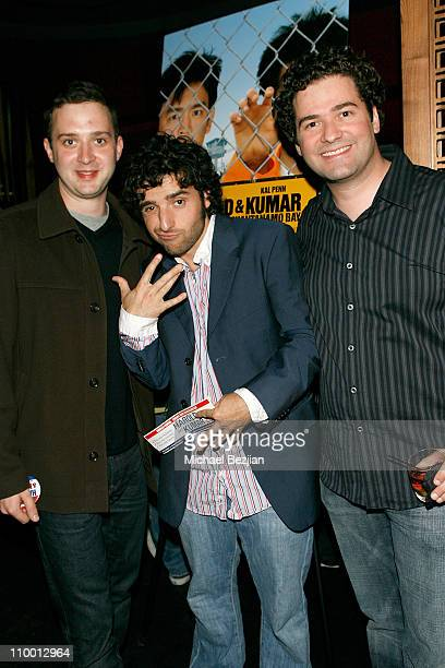 Actors Eddie Kaye Thomas and David Krumholtz and director John Hurwitz attend Midnight Music Wednesdays Harold Kumar Escape from Guantanamo Bay event...