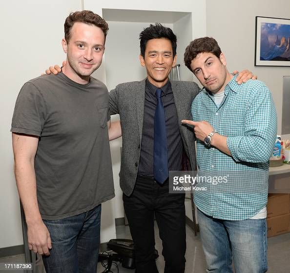 Actors Eddie Kaye Thomas John Cho and Jason Biggs attend the 3rd Annual 24 Hour Plays in Los Angeles presented by Montblanc held at The Broad Stage...
