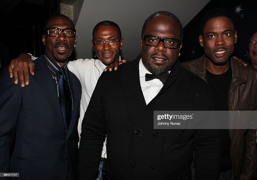 Actors Eddie Murphy, Tommy Davidson, Cedric The Entertainer, and Chris Rock attend the 'Death At A Funeral' Los Angeles Premiere at Pacific's Cinerama Dome on April 12, 2010 in Hollywood, California.