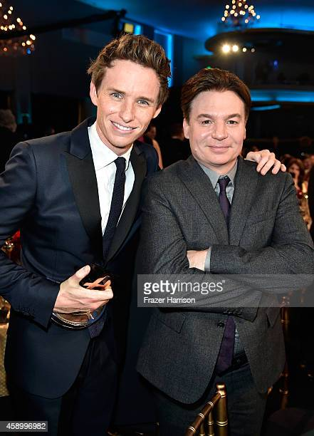 Actors Eddie Redmayne and Mike Myers attend the 18th Annual Hollywood Film Awards at The Palladium on November 14 2014 in Hollywood California