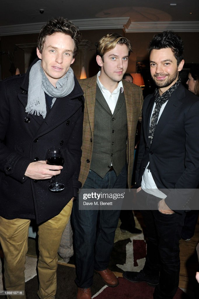 Actors Eddie Redmayne Dan Stevens and Dominic Cooper attend a VIP Screening of 'The Artist' hosted by the Weinstein Company at Charlotte Street Hotel...