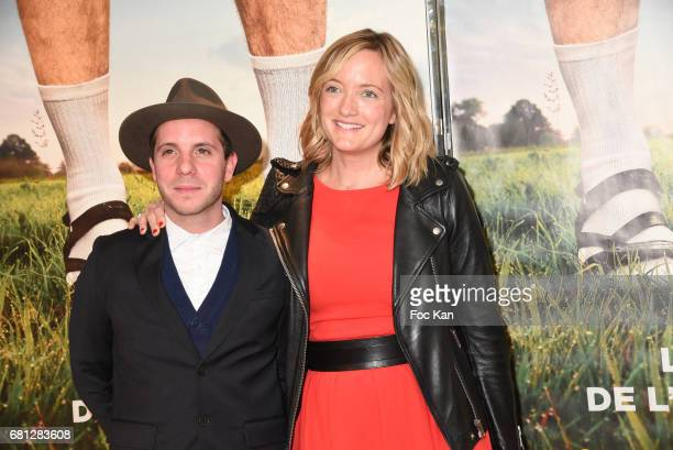 Actors Eddy Leduc and Dorothee Pousseo attend 'Problemos' Paris Premiere At UGC Cine Cite Les Halles on May 9 2017 in Paris France