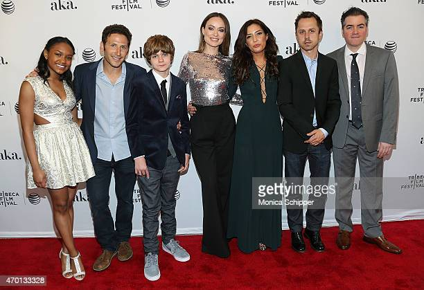 Actors Eden DuncanSmith Mark Feuerstein Ty Simpkins and Olivia Wilde director Reed Morano and actors Giovanni Ribisi and Kevin Corrigan attend the...