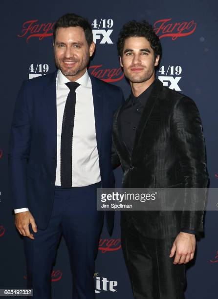 Actors Edgar Ramirez and Darren Criss attend the FX Network 2017 AllStar Upfront at SVA Theater on April 6 2017 in New York City