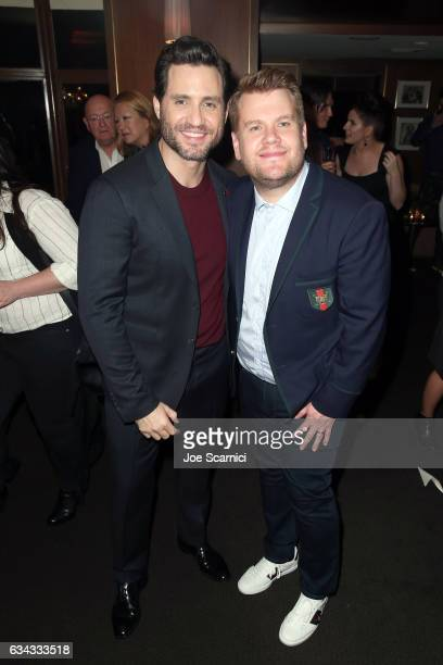 Actors Edgar Ramirez and James Corden attend Esquire's celebration of March cover star James Corden and the Mavericks of Hollywood presented by Hugo...