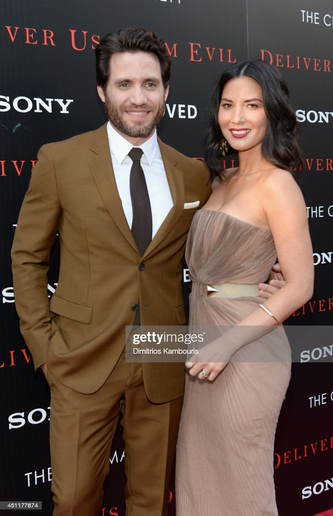 Actors Edgar Ramirez (L) and <a gi-track='captionPersonalityLinkClicked' href=/galleries/search?phrase=Olivia+Munn&family=editorial&specificpeople=598969 ng-click='$event.stopPropagation()'>Olivia Munn</a> attend the 'Deliver Us From Evil' screening hosted by Screen Gems & Jerry Bruckheimer Films with The Cinema Society at SVA Theater on June 24, 2014 in New York City.