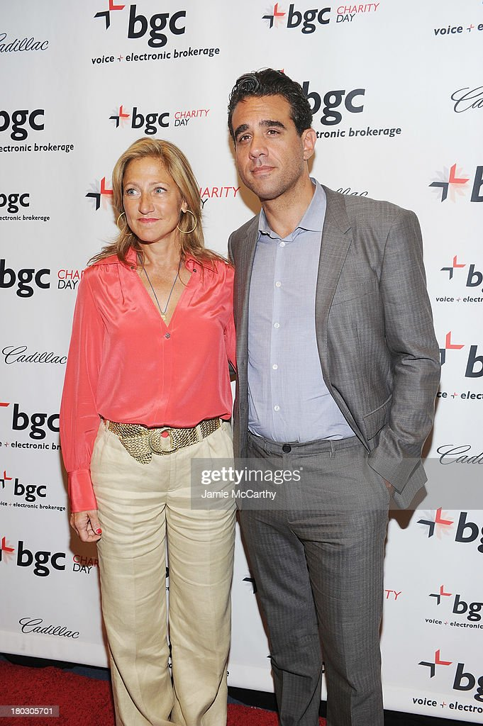 Actors Edie Falco and Bobby Cannavale attend the annual charity day hosted by Cantor Fitzgerald and BGC at the BGC office on September 11, 2013 in New York City.