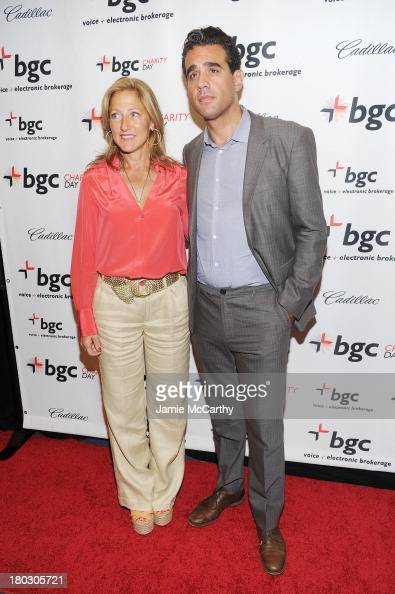 Actors Edie Falco and Bobby Cannavale attend the annual charity day hosted by Cantor Fitzgerald and BGC at the BGC office on September 11 2013 in New...