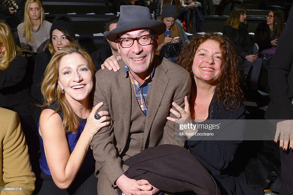 Actors <a gi-track='captionPersonalityLinkClicked' href=/galleries/search?phrase=Edie+Falco&family=editorial&specificpeople=202111 ng-click='$event.stopPropagation()'>Edie Falco</a>, <a gi-track='captionPersonalityLinkClicked' href=/galleries/search?phrase=John+Ventimiglia&family=editorial&specificpeople=243123 ng-click='$event.stopPropagation()'>John Ventimiglia</a>, and <a gi-track='captionPersonalityLinkClicked' href=/galleries/search?phrase=Aida+Turturro&family=editorial&specificpeople=214547 ng-click='$event.stopPropagation()'>Aida Turturro</a> attend the Nanette Lepore fashion show during Mercedes-Benz Fashion Week Fall 2014 at The Salon at Lincoln Center on February 12, 2014 in New York City.