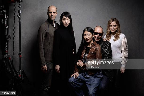 Actors Edoardo Ponti and Mariko Wordell producer Ayako Yoshida filmmaker Michel Comte and actress Sasha Alexander pose for a portrait during the 2014...