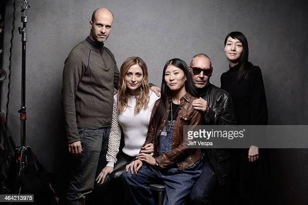 Actors Edoardo Ponti and Mariko Wordell producer Ayako Yoshida filmmaker Michel Comte and actress Sasha Alexander pose for a portrait during the 2014...