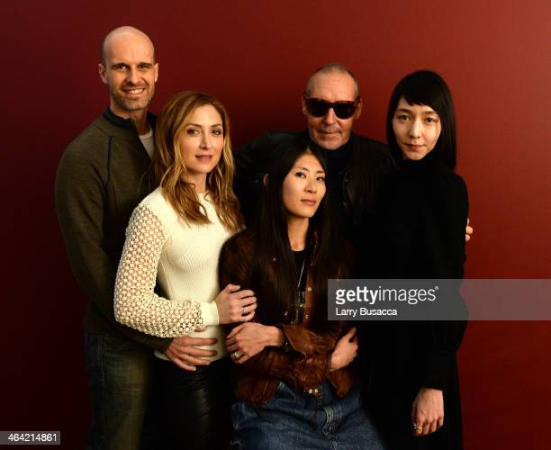 Actors Edoardo Ponti and Sasha Alexander producer Ayako Yoshida filmmaker Michel Comte and actress Mariko Wordell pose for a portrait during the 2014...