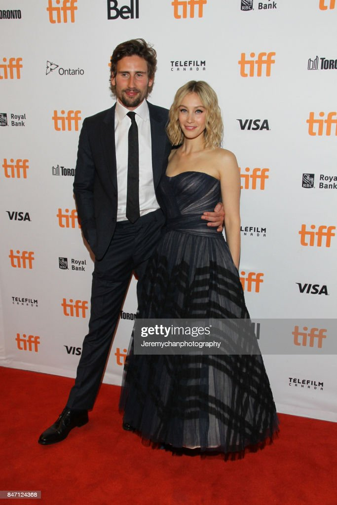 Actors Edward Holcroft and Sarah Gadon attend the 'Alias Grace' Premiere held at Winter Garden Theatre during the 2017 Toronto International Film Festival on September 14, 2017 in Toronto, Canada.