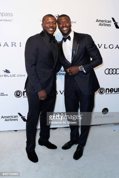 Actors Edwin Hodge and Aldis Hodge attend the 25th Annual Elton John AIDS Foundation's Academy Awards Viewing Party at The City of West Hollywood...