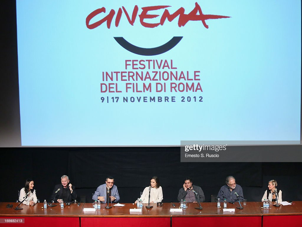 Actors Egor Beroev, Anastasia Mikulchina and director Bakhtyar Khudojnazarov attend 'Waiting For The Sea' Press Conference during The 7th Rome Film Festival at Sala Petrassi on November 9, 2012 in Rome, Italy.